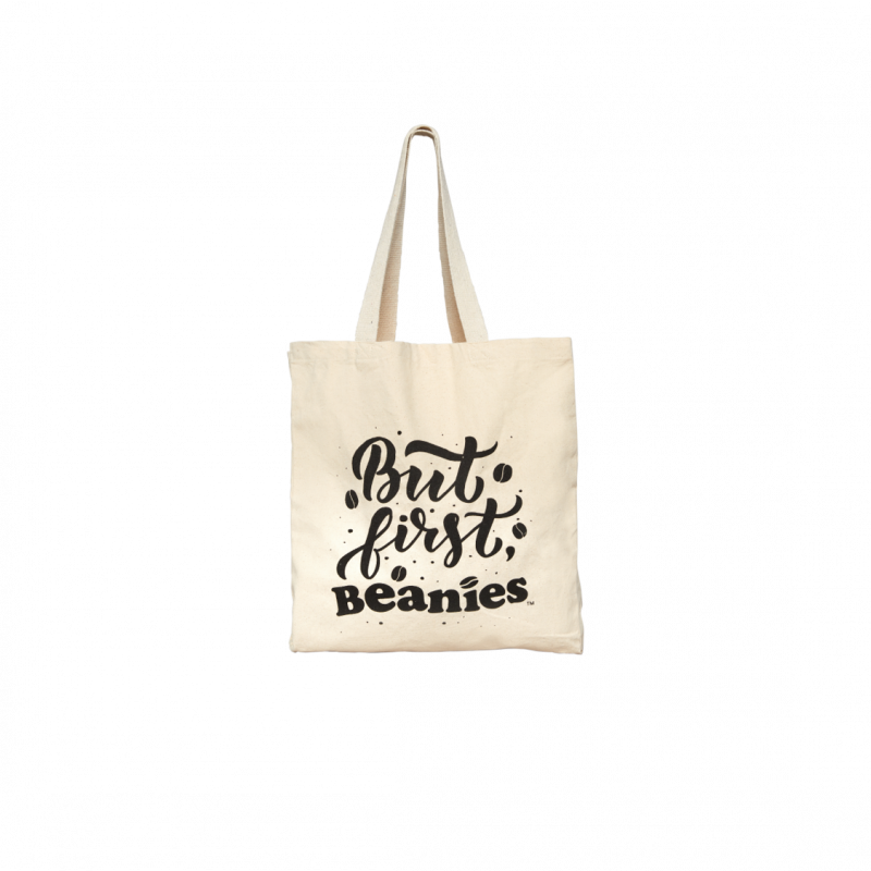 But First, Beanies Cotton Tote Bag