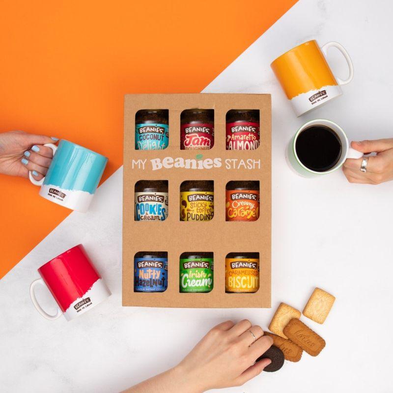 Beanies New Look 9 Jar Coffee Gift Box