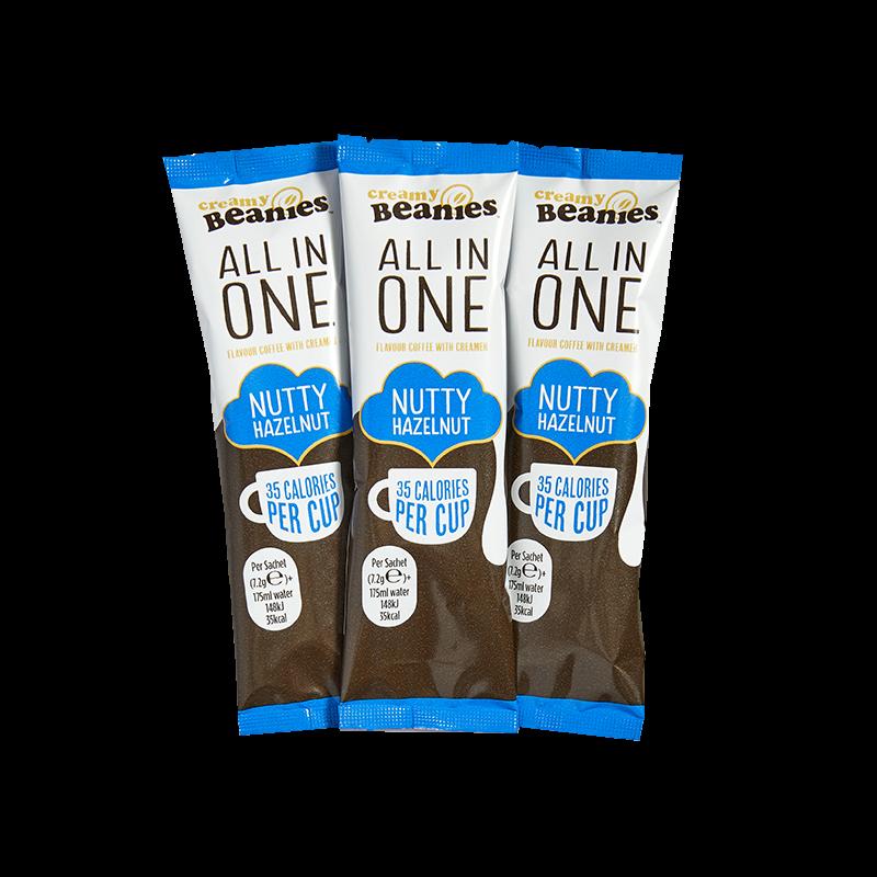 50 Nutty Hazelnut Flavour All In One Sachets